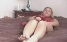 Horny mom trying to pleasure herself