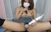 Japanese cutie masturbating