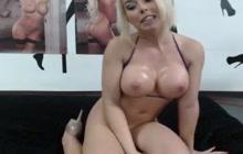 Hot Big Tit Bikini Babe Masturbates