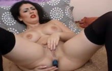 Big boobed babe doing a hot webcam show