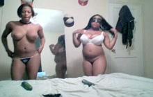 Monster boobed ebony lesbos