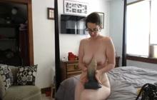Masturbating on the big bed