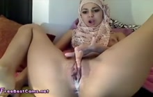 Arab Muslim girl doing a private show for you